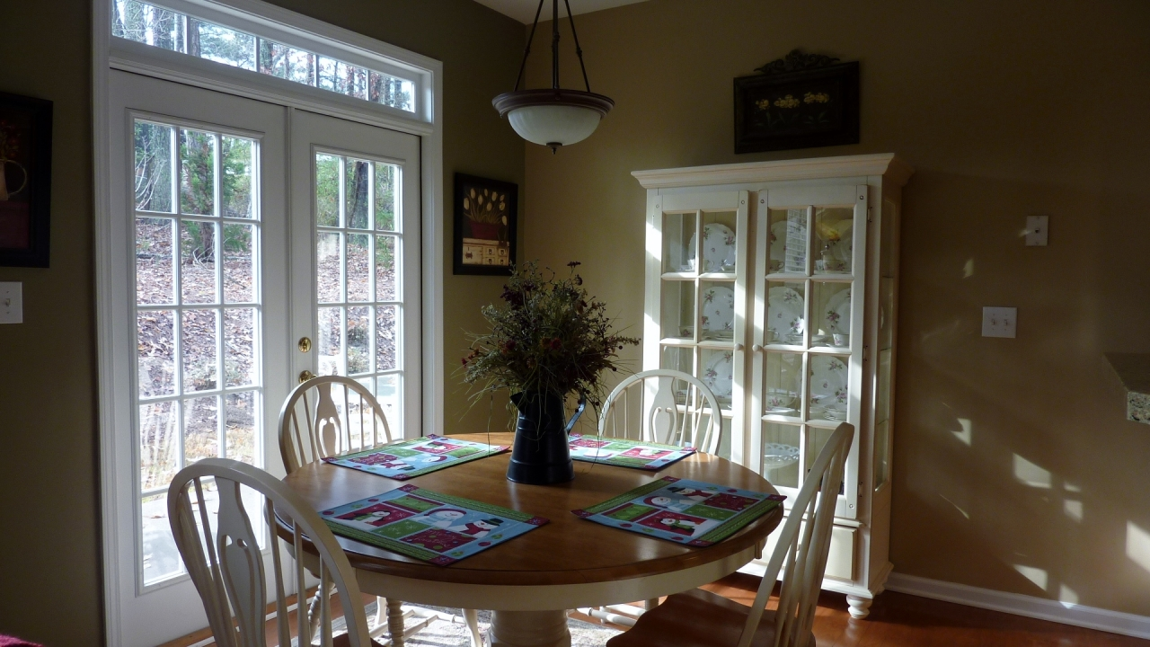 Breakfast Room with French Doors to Private Patio