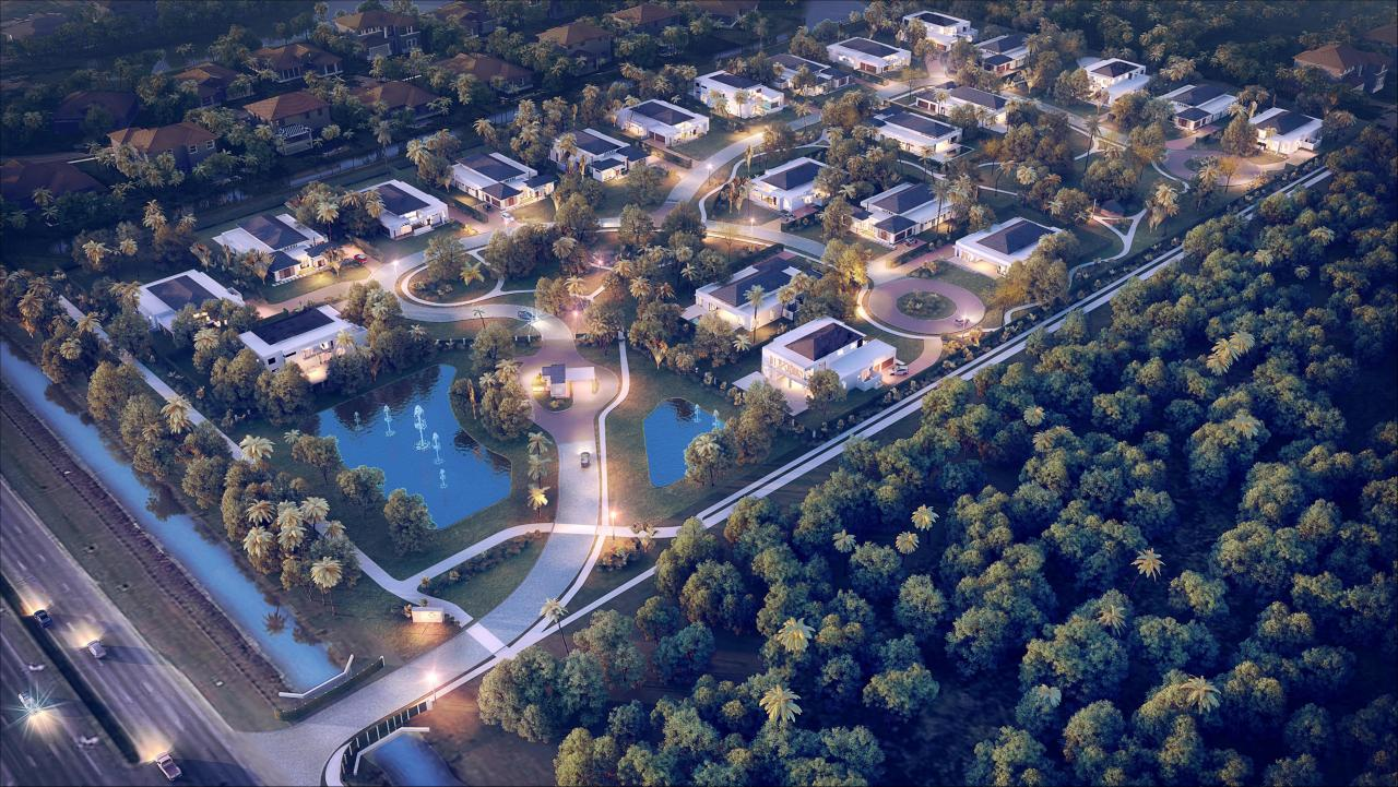 Oak Park Aerial View