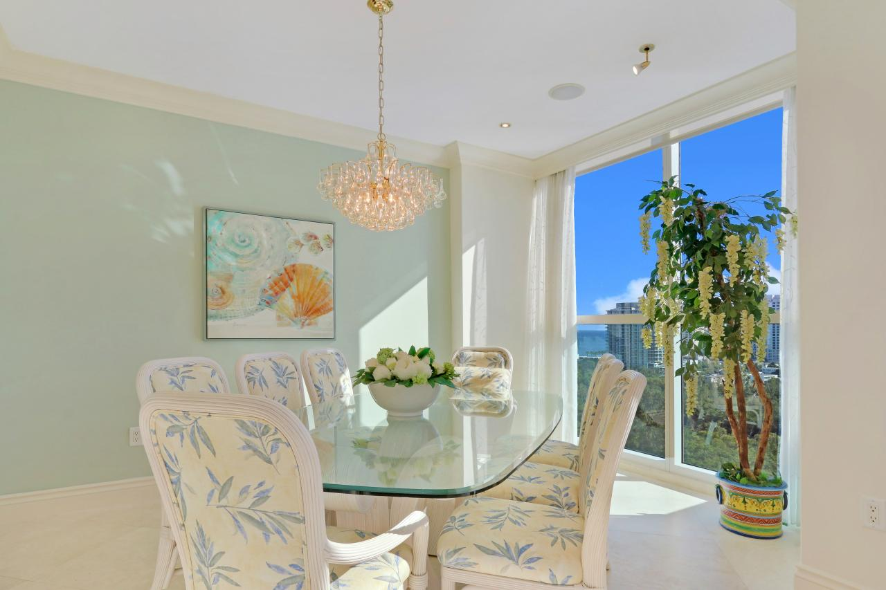 Breakfast Area with Ocean & Intracoastal Views