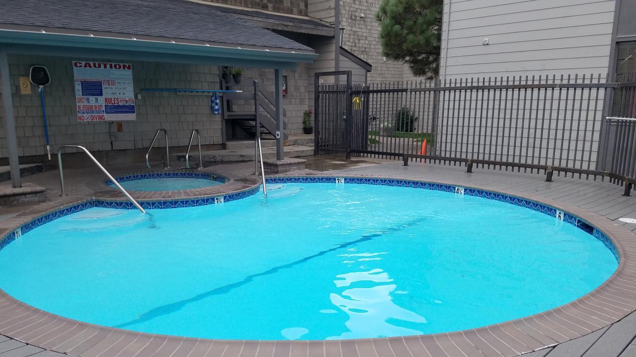 Newly resurfaced Pool