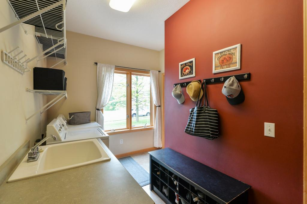Main floor laundry and mud room